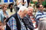 PNJ-Gründungsmitglieder unter sich: Gerhard Pfeffer (l.) und Wolfgang Herder.